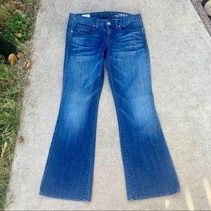 Gap Curvy Flare 28 6 Dark Wash Wide Leg Jeans low